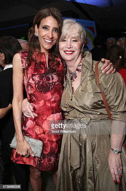Producer Claire Rudnick Polstein and Melinda Ledbetter attend the Roadside Attractions' Premiere Of Love Mercy at the Samuel Goldwyn Theater on June...