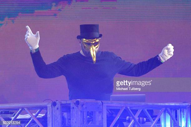 Producer Claptone performs onstage during day 3 of the 2016 Coachella Valley Music And Arts Festival Weekend 1 at the Empire Polo Club on April 17...