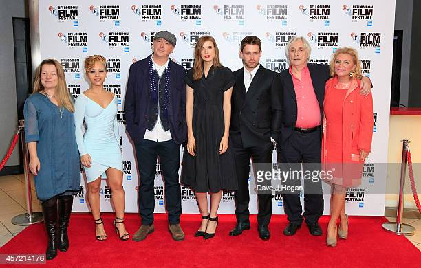 Producer Clare Duggan actress Saffron Coomber director Bryn Higgins actors Agyness Deyn Christian Cooke Tom Georgeson and guest attend the world...