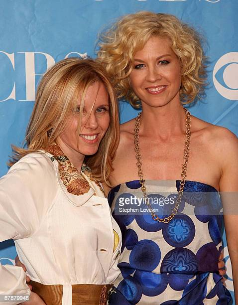 Producer Claudia Lanow and actress Jenna Elfman attend the 2009 CBS Upfront at Terminal 5 on May 20 2009 in New York City