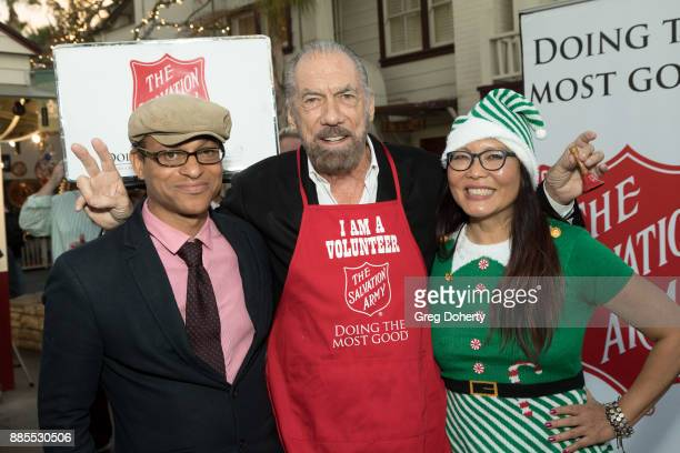 Producer Clinton H Wallace Entrepreneur / Philanthropist John Paul Dejoria and Journalist Joyce Chow attend The Salvation Army Celebrity Kettle...
