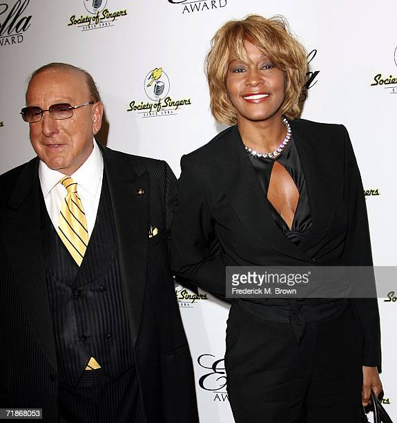 Producer Clive Davis and recording artist Whitney Houston attend the 15th Annual Ella Awards at the Beverly Hilton Hotel on September12 2006 in...