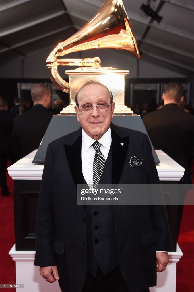 Producer Clive Davis attends the 60th Annual GRAMMY Awards at Madison Square Garden on January 28, 2018 in New York City.