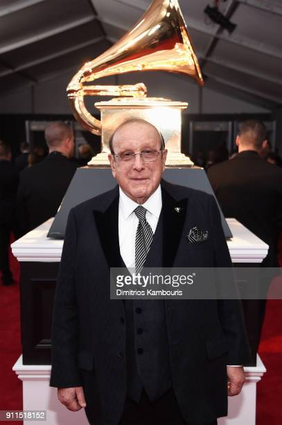 Producer Clive Davis attends the 60th Annual GRAMMY Awards at Madison Square Garden on January 28 2018 in New York City