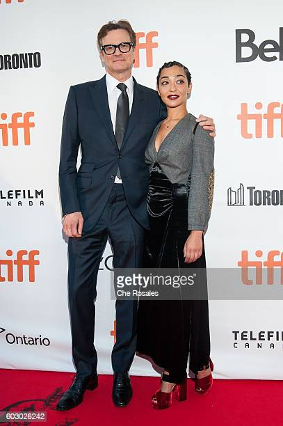 Producer Colin Firth and Ruth Negga attend the premiere of Loving during the 2016 Toronto International Film Festival at Roy Thomson Hall on...