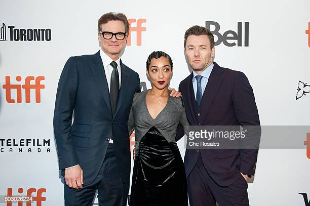 Producer Colin Firth with Actors Ruth Negga and Joel Edgerton attend the premiere of Loving during the 2016 Toronto International Film Festival at...