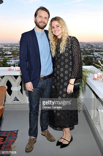 Producer Colin Nash and COO/Cofounder of Doen Katherine Kleveland attend Doen's celebration of the launch of their collection with friends and family...