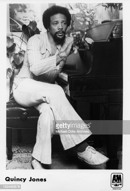 Producer conductor arranger composer and trumpeter Quincy Jones poses for a publicity photo circa 1974