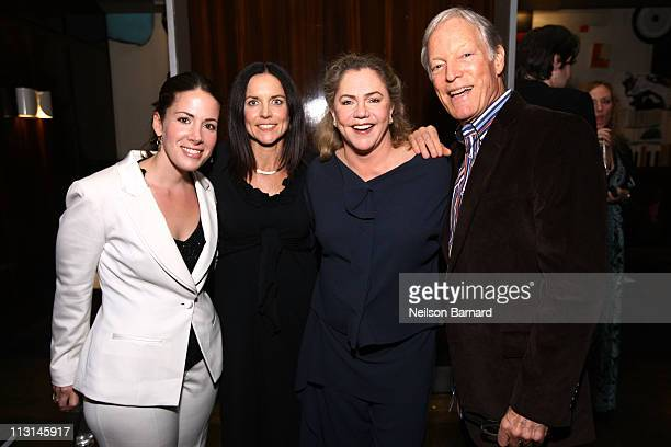 Producer Cora Olsen actors Angelique Cabral Kathleen Turner and Richard Chamberlain attend The Perfect Family's premiere afterparty at the Tribeca...