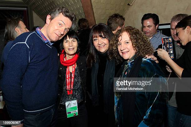 Producer Cotty Chubb Journalist Meira Blaustein BMI Executive Doreen RingerRoss and Producer Linda Livingston attend the BMI Sundance Dinner at Zoom...