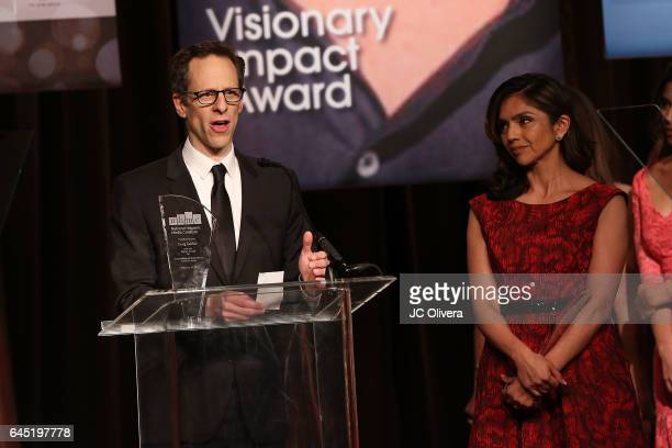 Producer Craig Berger speaks onstage during the 20th Annual National Hispanic Media Coalition Impact Awards Gala at Regent Beverly Wilshire Hotel on...