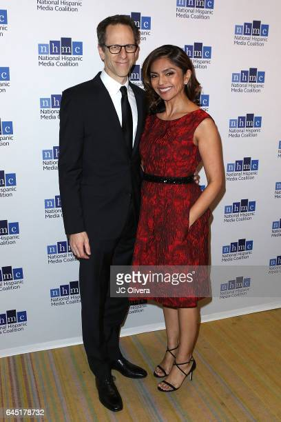Producer Craig Gerber and screenwriter Silvia Olivas attend the 20th Annual National Hispanic Media Coalition Impact Awards Gala at Regent Beverly...