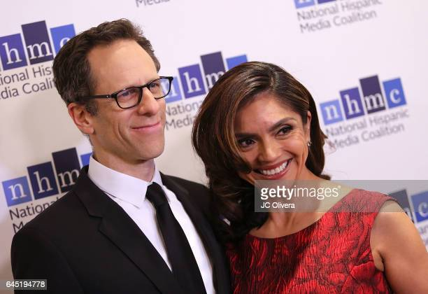 Producer Craig Gerber and writer Silvia Olivas attend the 20th Annual National Hispanic Media Coalition Impact Awards Gala at Regent Beverly Wilshire...