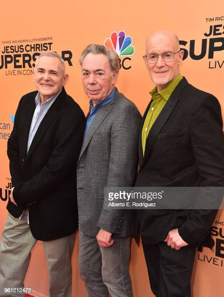 Producer Craig Zadan composer Andrew Lloyd Weber and producer Neil Meron attend an FYC Event for NBC's Jesus Christ Superstar Live in Concert at the...