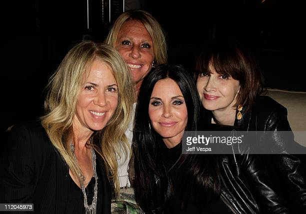 Producer Cynthia PettDante and Courteney Cox and guests attend the after party for the Scream 4 world premiere at The Redbury on April 11 2011 in...