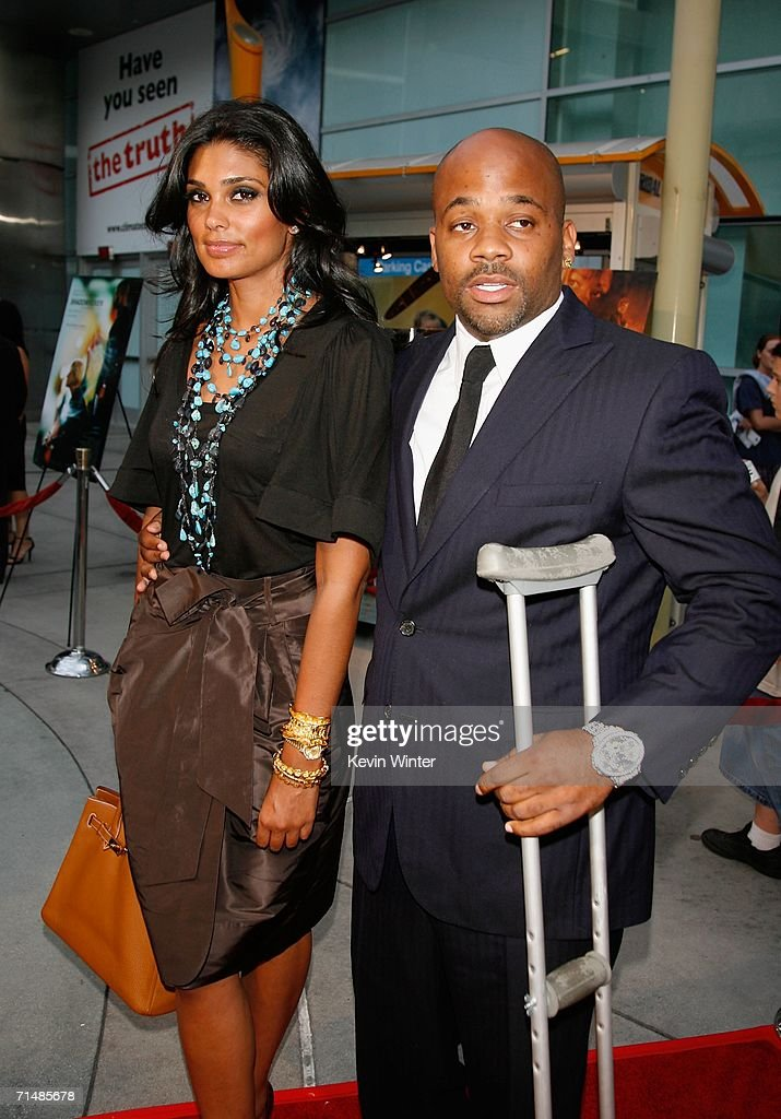 Producer Damon Dash and wife Rachel Roy arrive at the Los