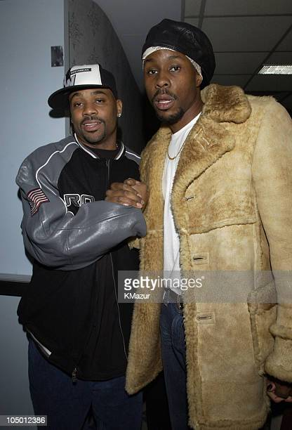 Producer Damon Dash and Wood Harris during Paid In Full Premiere New York at Loews 19th Street East Theather in New York City New York United States