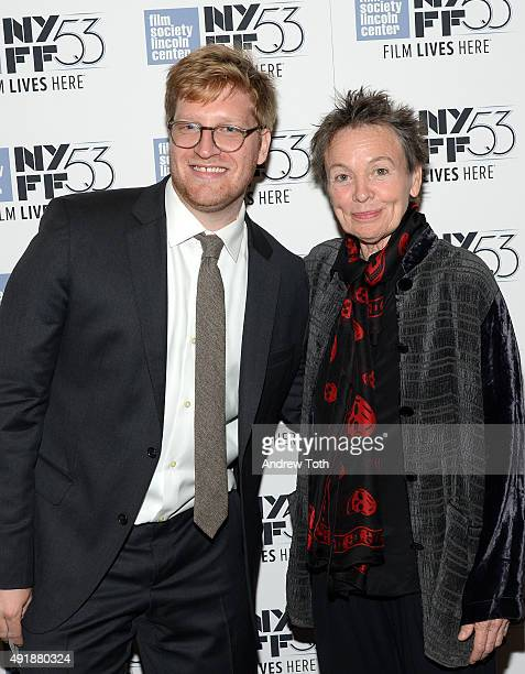 Producer Dan Janvey and Filmmaker Laurie Anderson attend the Heart Of Dog screening during the 53rd New York Film Festival at The Film Society of...