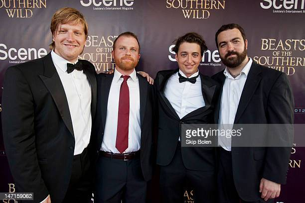 Producer Dan Janvey Producer Michael Gottwald Director Benh Zeitlin and Producer Josh Penn attend Fox Searchlight Pictures Presents 'Beasts of the...