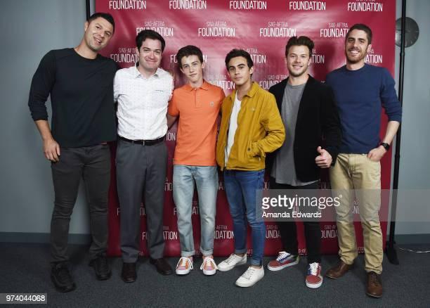Producer Dan Lagana executive producer Dan Perrault actors Griffin Gluck Tyler Alvarez and Jimmy Tatro and director Tony Yacenda attend the SAGAFTRA...