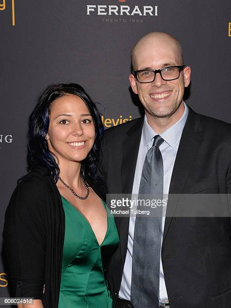 Producer Dan Murrell and guest attend Television Academy's event celebrating Emmynominated producers for the 68th Emmy Awards at Montage Beverly...