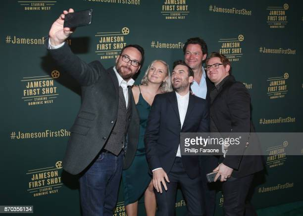 Producer Dana Brunetti Alice Cogin Ollie Wolf actor Dominic West and Jason Manella at Jameson First Shot at Paramount Studios on November 4 2017 in...