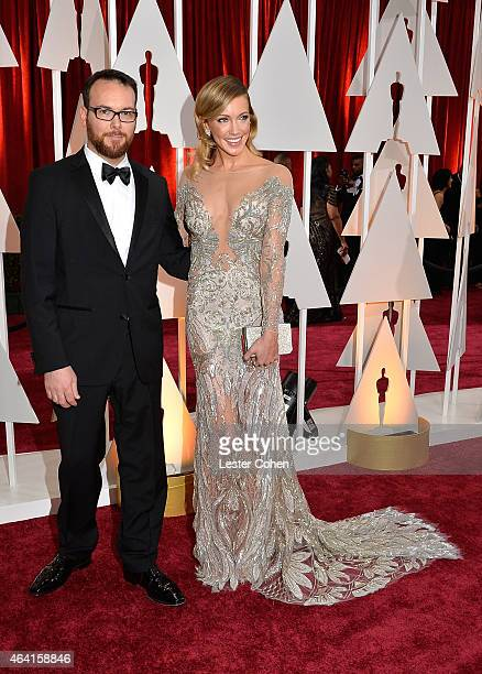Producer Dana Brunetti and actress Katie Cassidy attend the 87th Annual Academy Awards at Hollywood Highland Center on February 22 2015 in Hollywood...