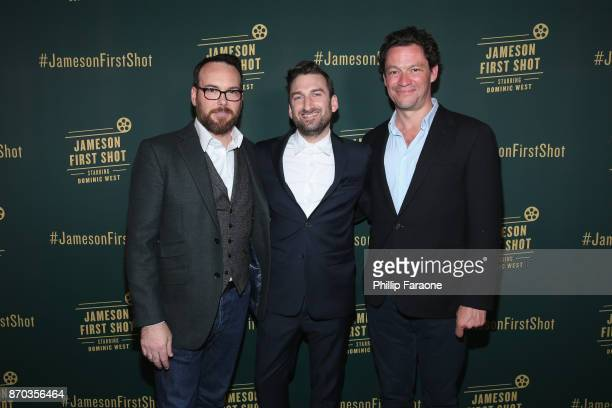 Producer Dana Brunetti Ollie Wolf and actor Dominic West at Jameson First Shot at Paramount Studios on November 4 2017 in Hollywood California