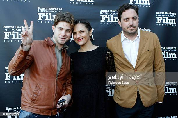 Producer Daniel Dreifuss actress Antonia Zegers and director Pablo Larrain attends the 28th Santa Barbara International Film Festival Gala Screening...