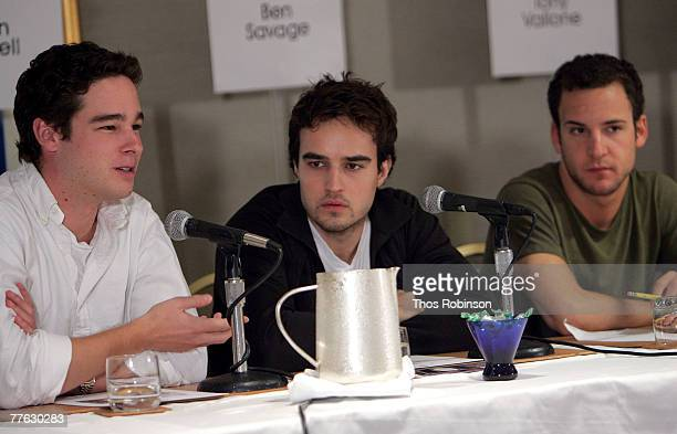 Producer Daniel Englehardt actor Justin Mentell and actor Ben Savage speak during the panel discussion 'The DIY Generation A case study of the film...