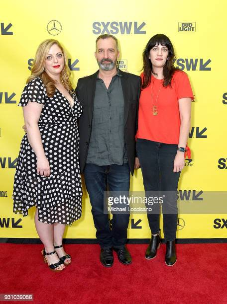 Producer Danielle Blumstein cinematographer Yaron Scharf and producer Amanda Marshall attend the 'You Can Choose Your Family' premiere during the...