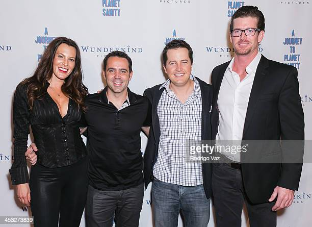 Producer Danielle Crane director Blake Freeman and producer Michael Fancher attend 'A Journey To Planet Sanity' Los Angeles Premiere at Laemmle...