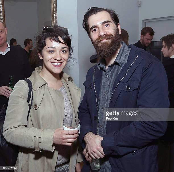 Producer Danielle Firoozi and Director Gary Gardner attend the Producers Reception during the 2013 Tribeca Film Festival April 22 2013 in New York...