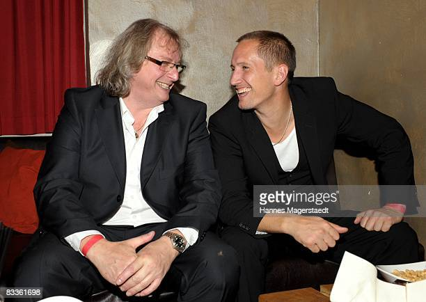 Producer Danny Krausz and actor Benno Fuermann attend the after show party for the premiere of Nordwand October 20 2008 in Munich Germany