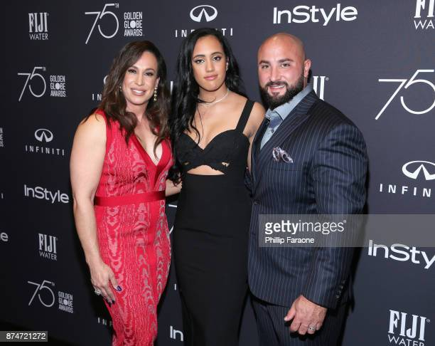 Producer Dany Garcia 2018 Golden Globes Ambassador Simone Garcia Johnson and Dave Rienzi attend the HFPA's and InStyle's Celebration of the 2018...