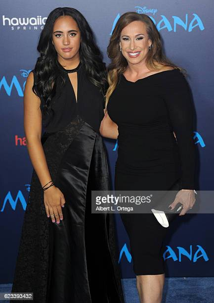 Producer Dany Garcia and daughter Simone Alexandra Johnson arrive for the AFI FEST 2016 Presented By Audi Premiere Of Disney's 'Moana' held at the El...