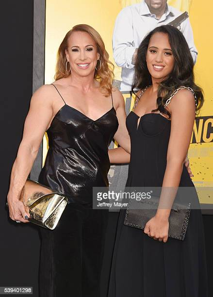 Producer Dany Garcia and daughter Simone Johnson attend the premiere of Warner Bros Pictures' 'Central Intelligence' at Westwood Village Theatre on...
