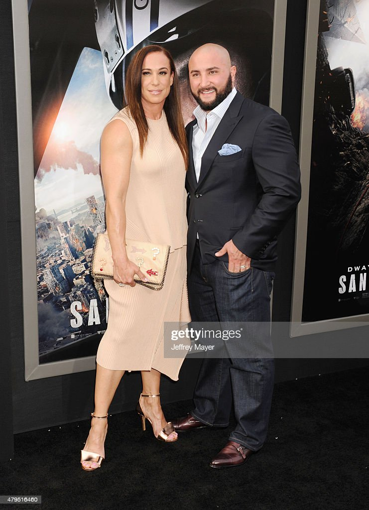 Producer Dany Garcia and guest arrive at the 'San Andreas' - Los Angeles Premiere at TCL Chinese Theatre IMAX on May 26, 2015 in Hollywood, California.