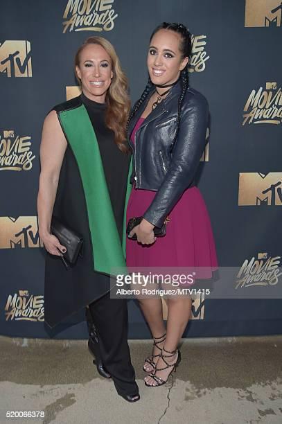 Producer Dany Garcia and Simone Alexandra Johnson attend the 2016 MTV Movie Awards at Warner Bros Studios on April 9 2016 in Burbank California MTV...