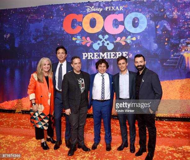 Producer Darla K Anderson actor Benjamin Bratt director Lee Unkrich actors Anthony Gonzalez and Gael Garcia Bernal and codirector/screenwriter Adrian...