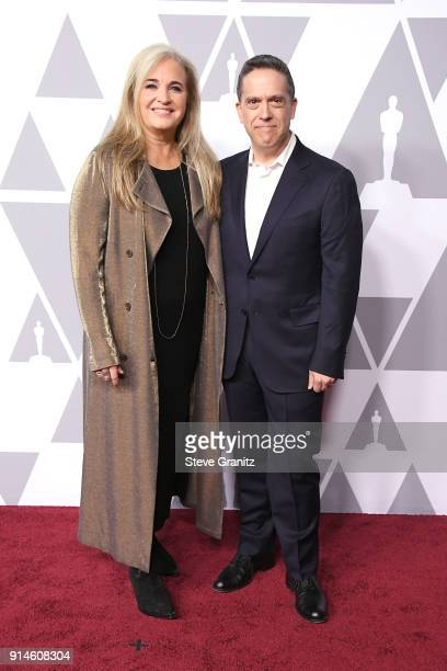 Producer Darla K Anderson and director Lee Unkrich attend the 90th Annual Academy Awards Nominee Luncheon at The Beverly Hilton Hotel on February 5...