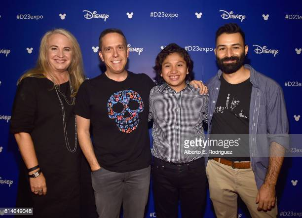 Producer Darla K Anderson director Lee Unkrich actor Anthony Gonzalez and codirector/screenwriter Adrian Molina of COCO took part today in the Walt...
