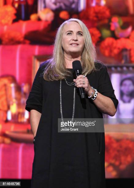 Producer Darla K Anderson of COCO took part today in the Walt Disney Studios animation presentation at Disney's D23 EXPO 2017 in Anaheim Calif COCO...