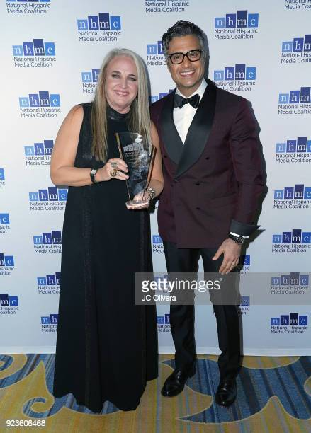 Producer Darla K Anderson recipient of the 'Outstanding Motion Picture' award for the film 'Coco' and actor Jaime Camil attend the 20th Annual...