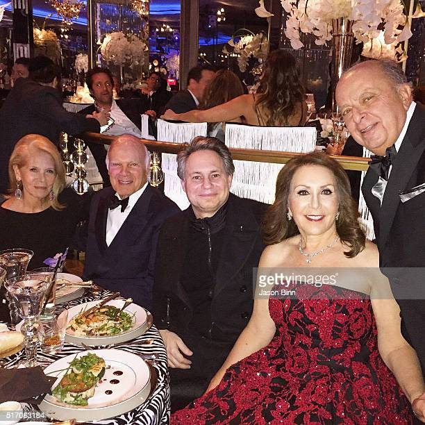 Producer Daryl Roth Founder of Vornado Realty Steven Roth Jason Binn Cookie Chera Founder of Crown Acquisitions Stanley Chera circa February 2016 in...