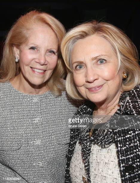 Producer Daryl Roth nd Hillary Rodham Clinton attend a performance of 'Gloria A Life' at The Daryl Roth Theater in honor of 'International Women's...