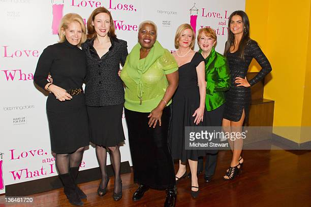 Producer Daryl Roth with actresses Veanna Cox Lillias White Eve Plumb Nancy Dussault and Katie Lee attend the Love Loss And What I Wore new cast...