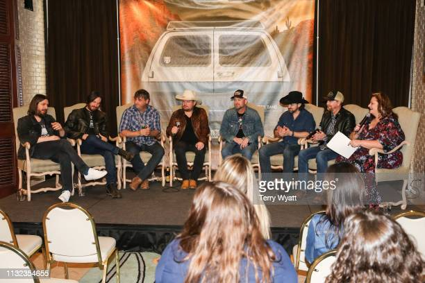 Producer Dave Cobb Jonny Richardson Less Lawless Randy Rogers Geoffrey Hill Brady Black and Todd Stewart of the Randy Rogers Band attend a special...