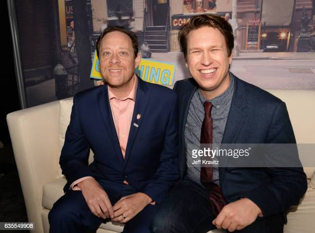 Producer Dave Rath and creator/Executive Producer Pete Holmes attend HBO's Crashing premiere and after party on February 15 2017 in Los Angeles...