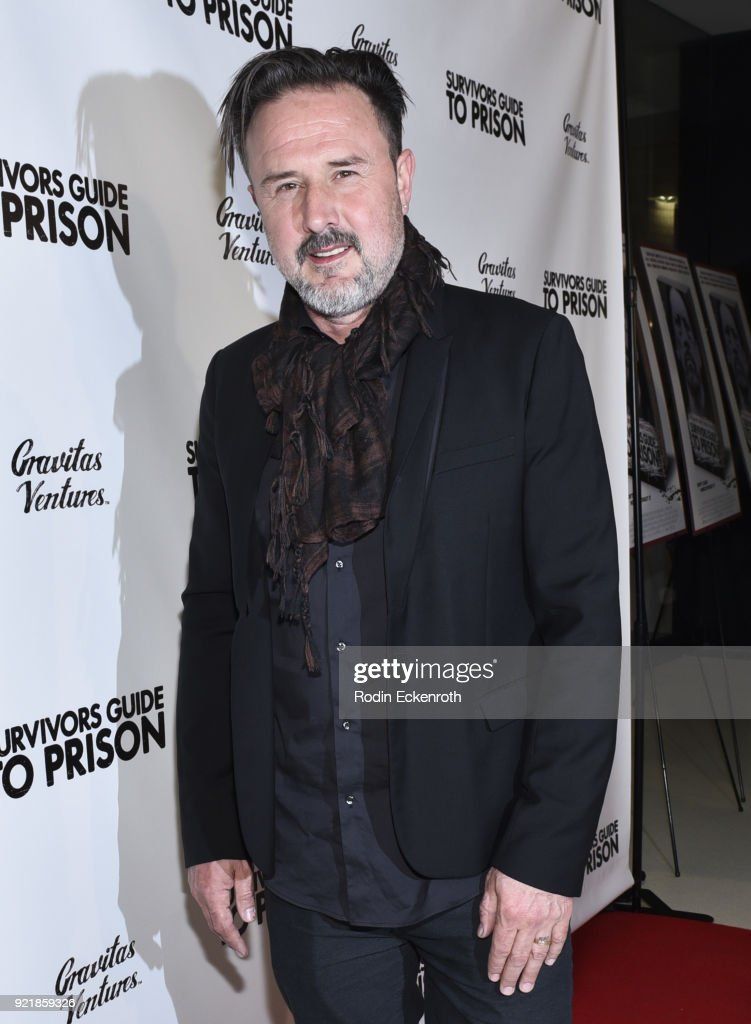 Producer David Arquette attends the premiere of Gravitas Pictures' 'Survivors Guide To Prison' at The Landmark on February 20, 2018 in Los Angeles, California.